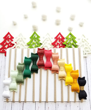 The 12 Days of Christmas RAINBOW Baby Bows nylon headbands