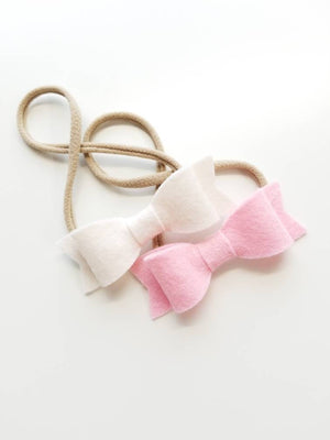 Baby Bow Nylon Headband or alligator clips New Size 3 inches