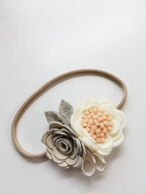 Baby Flower Crown / Newborn Photoprop / baby Headband