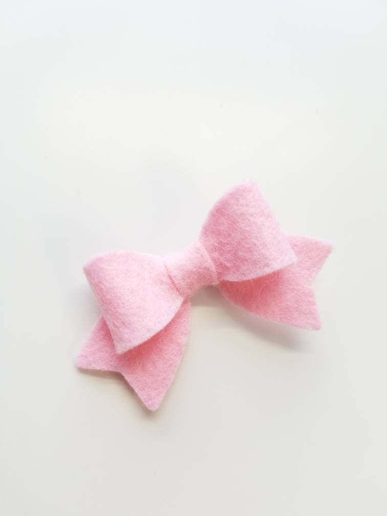 Baby bows, Handmade Mini Bows, set of 3, Baby headbands, nylon fits all, bright red, baby pink, white, Baby girl set, hair clips