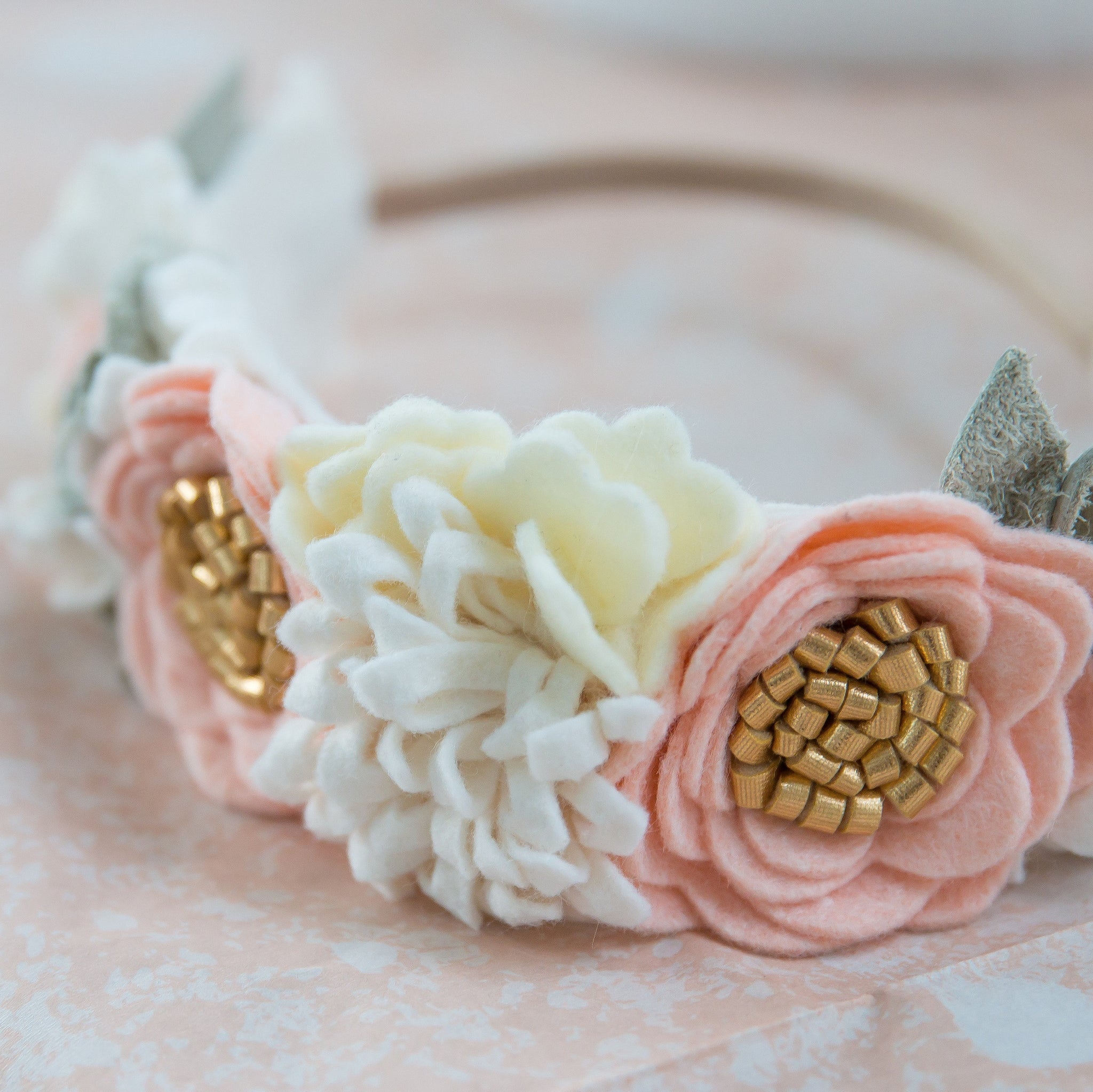 Blush Flower Crown, Birthday flower crown, girl floral headband