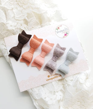 Baby Bows, Nylon Headbands, newborn headbands, Blush Color Palette Collection, handmade in the USA