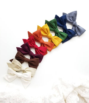 Fall Rain-Bow, nylon headbands, baby girl Rainbow, hair accessories, baby headbands or hair clips, 4 in, Vanaguelite