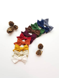 Fall Winter Baby Bows, nylon headbands, Rainbow baby girl headbands, hair accessories, baby headbands or hair clips, 3 inches Vanaguelite