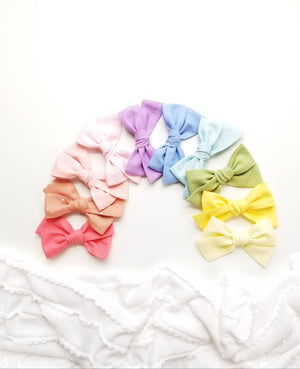 Baby Bows, nylon headbands, BIG Rainbow baby girl headbands, Pastel Colors hair accessories, baby headbands or hair clips, 4 inches