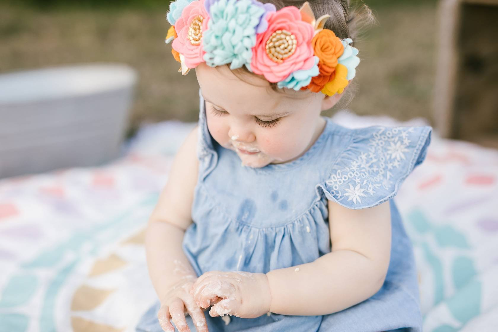 Custom made Flower Crown, Birthday flower crown, girl floral headband, customize your colors