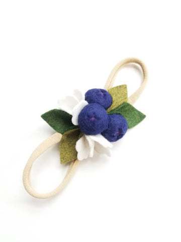 Blueberries Headband or alligator clip, baby hair accessories, Fruits headbands