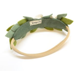 Leaves Headband, wool felt flowers, baby girl hair accessories, baby headbands