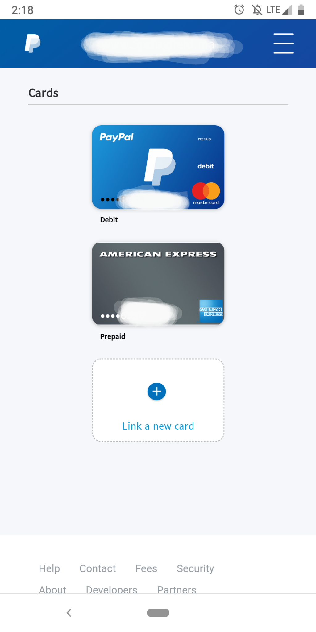 Prepaid Cards connected to PayPal