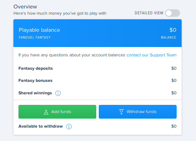 Fanduel Prepaid Card Withdrawal