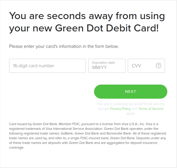 How to Activate Green Dot Unlimited Card
