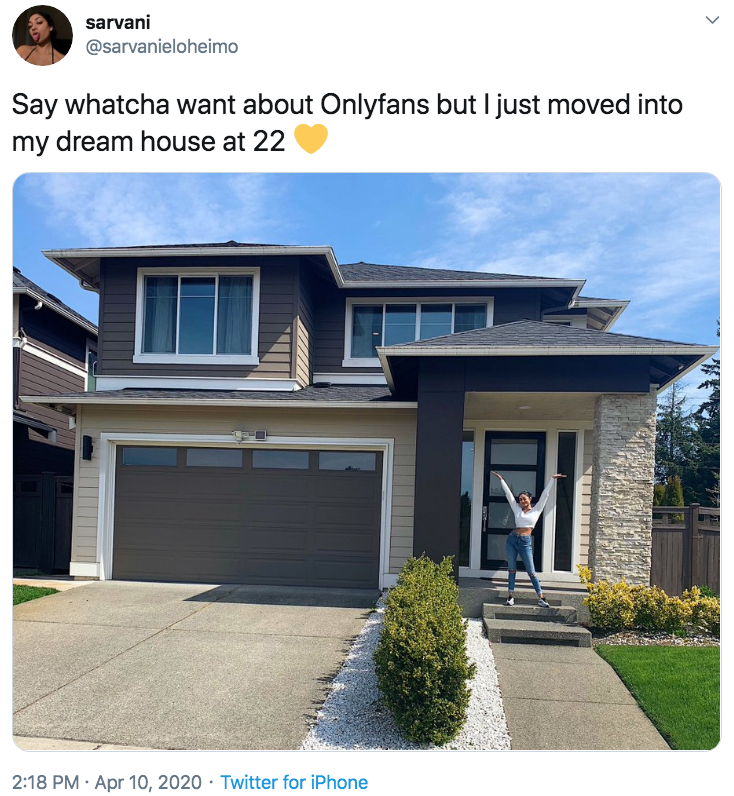 girl buys dream house onlyfans