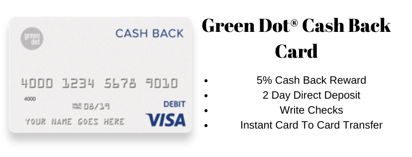 Green dot cash back card