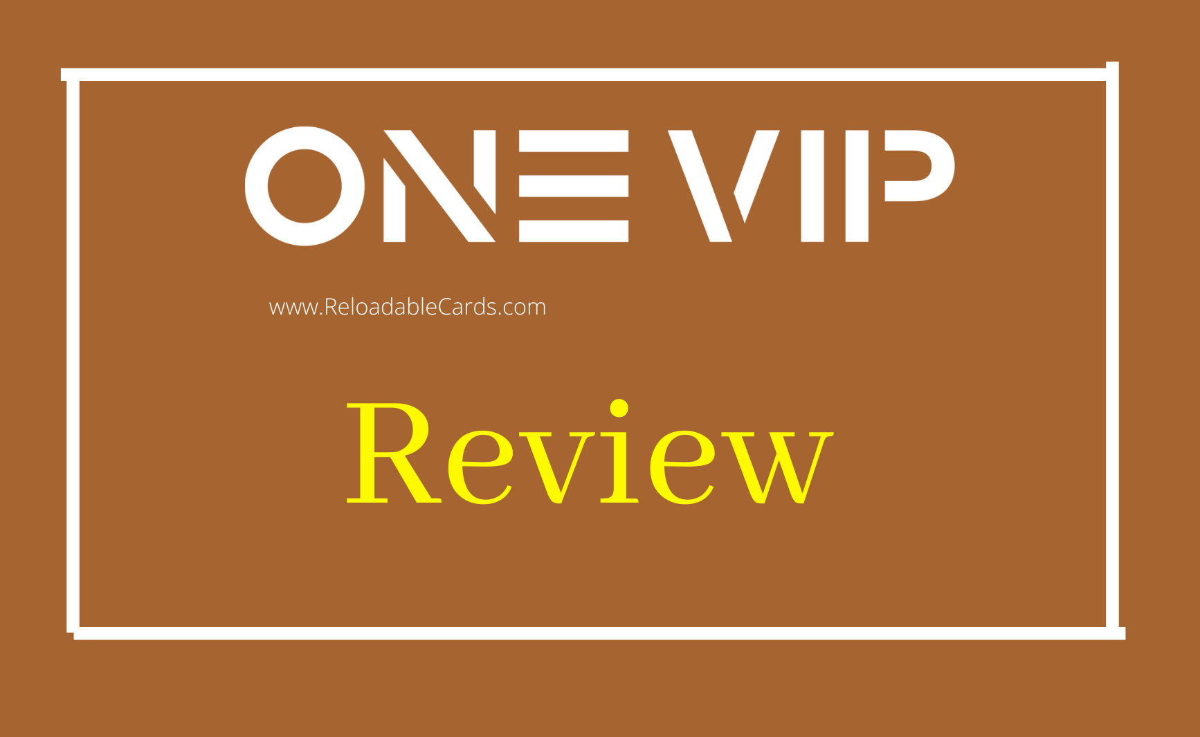 One VIP prepaid card review