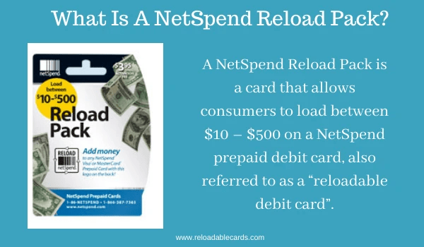 what is a netspend reload pack