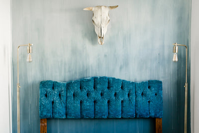 Ombre' Blue Accent Wall:: The Flat