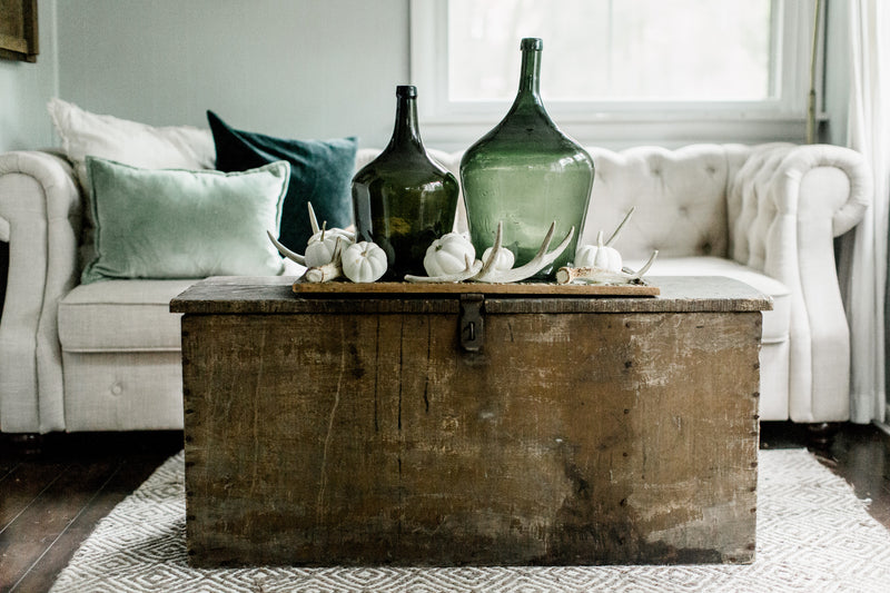 Shades of Green Fall Decor'