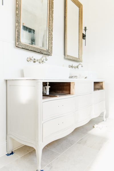 Our Master Vanity From A Wardrobe