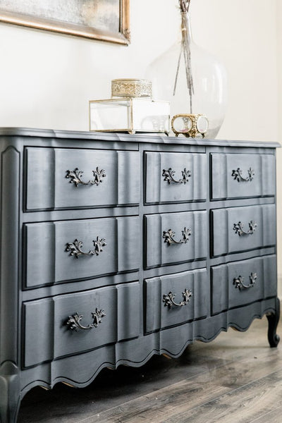"Our Painted ""Black Beauty"" Dresser"