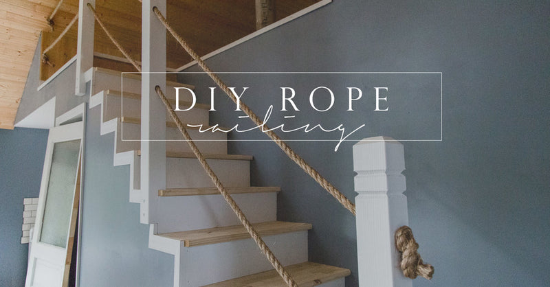 Diy Rope Stair Railing Cottonwood Shanty