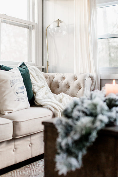 New Tufted Farmhouse Sofa