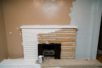 Painting A Sand Stone Fireplace