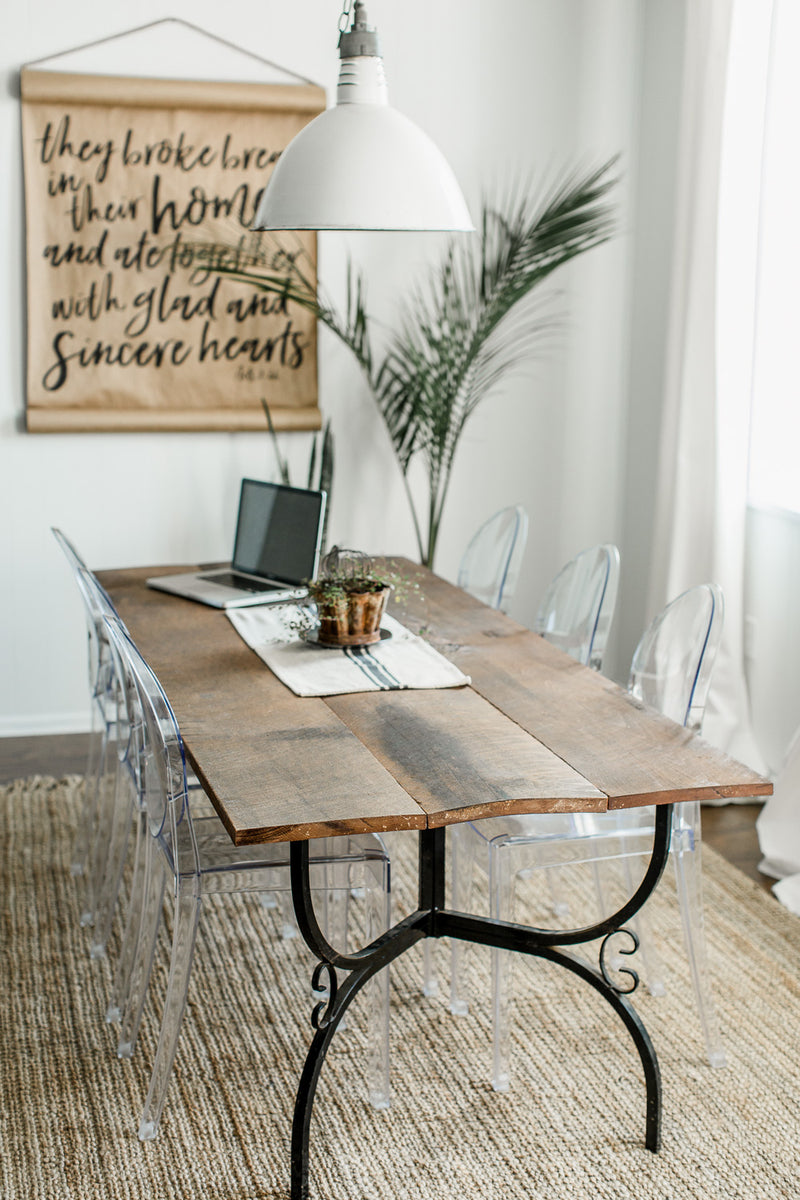 Rustic Farmhouse Dining Table:: The Urban Flat