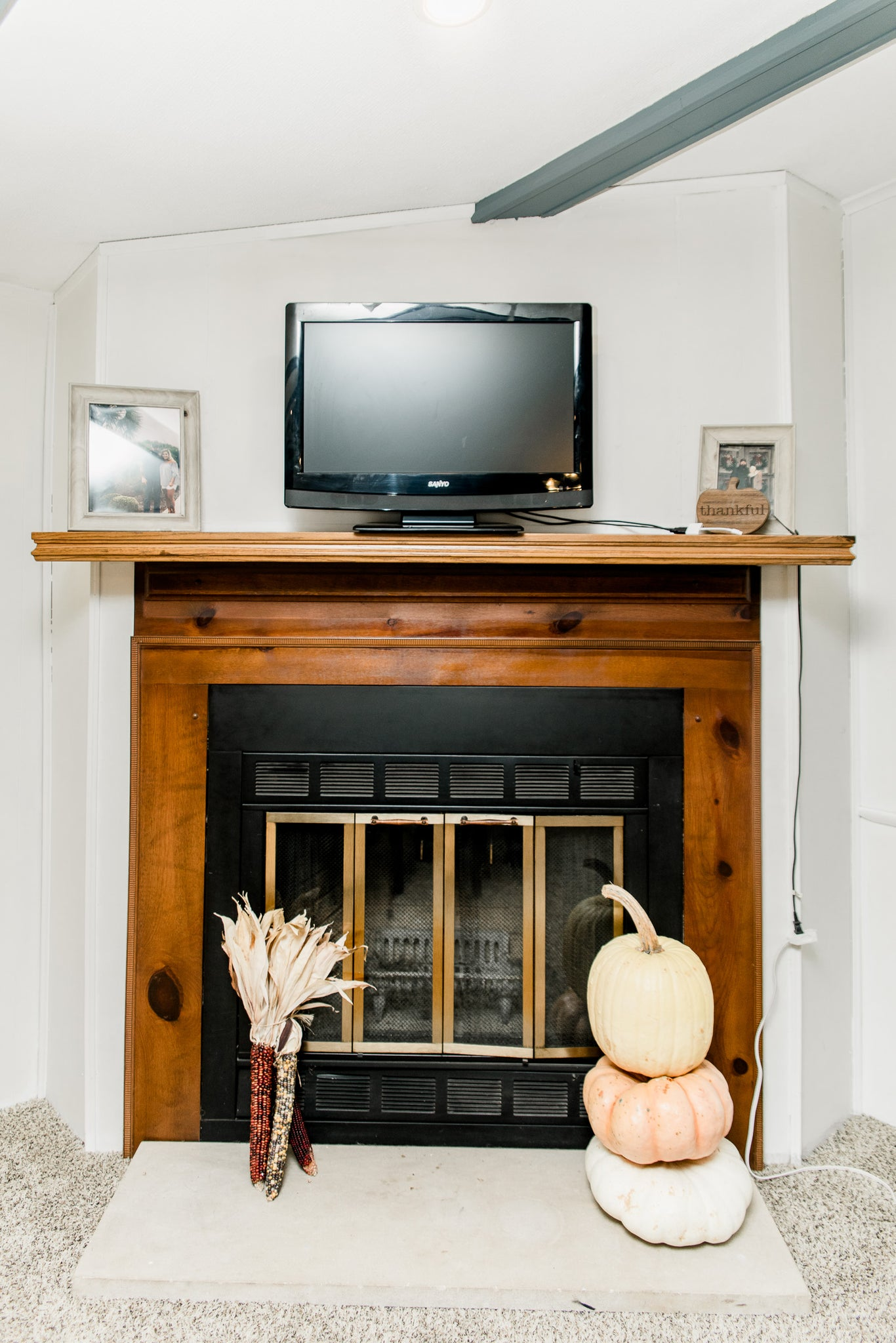 Diy Rustic Fireplace Mantel Fireplace Makeover Cottonwood Shanty