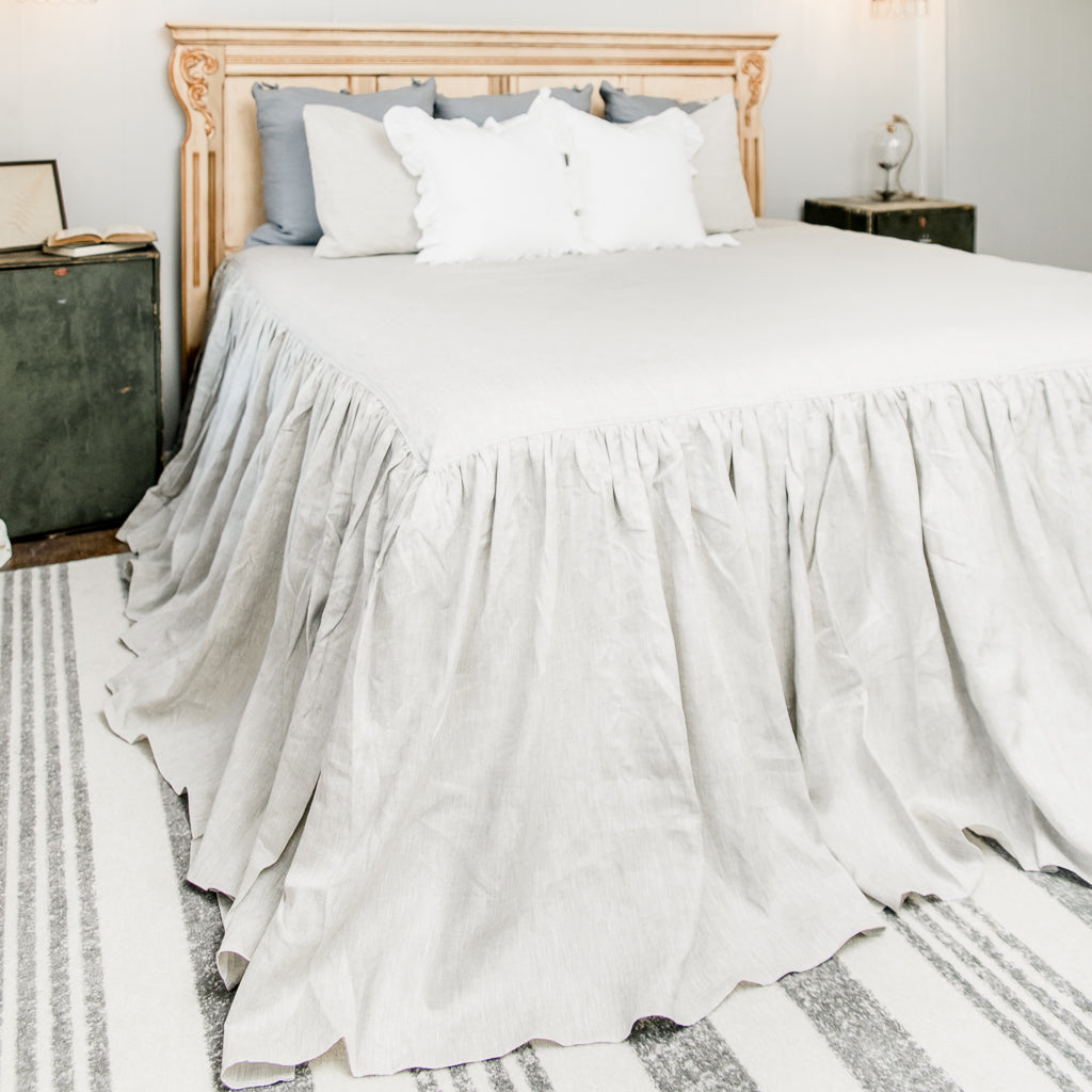 Luxury Linen Waterfall Bedspread