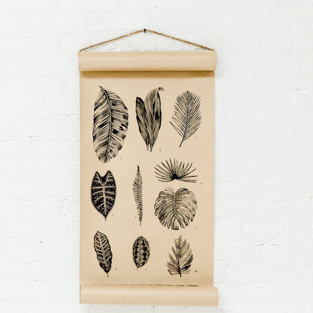 Botanical Leaves Scroll