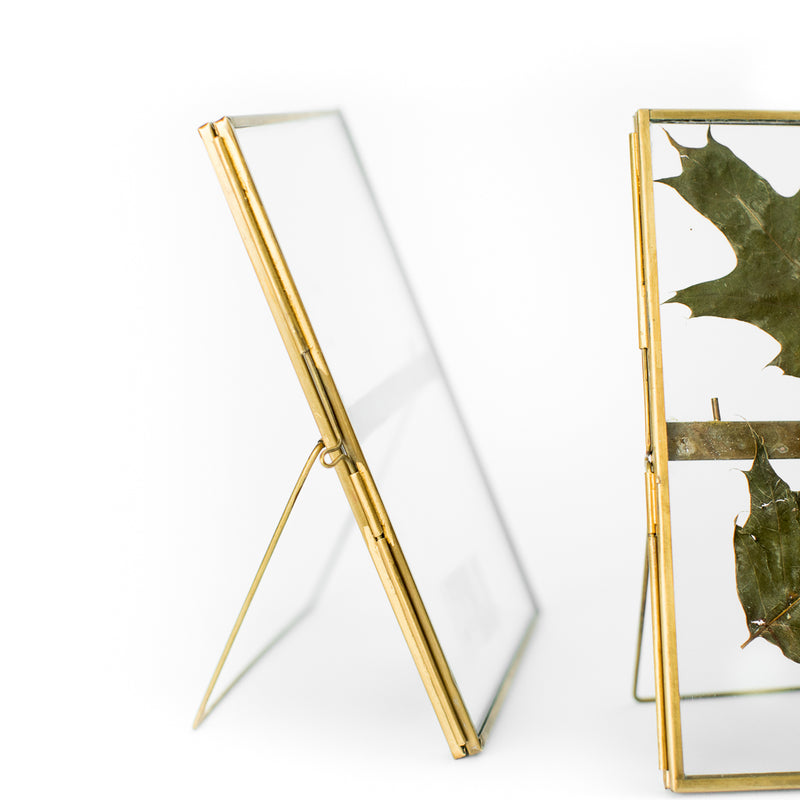 5x7 Gold/Glass Picture Frame