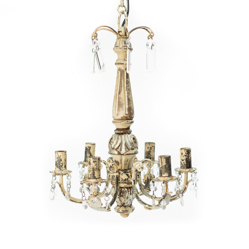 Small Patina Chandelier
