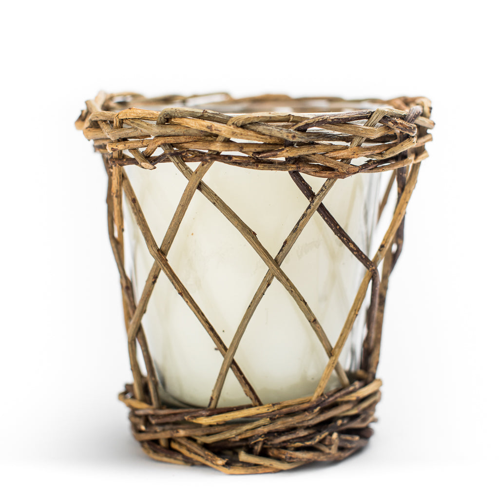 Weaved Willow Candles