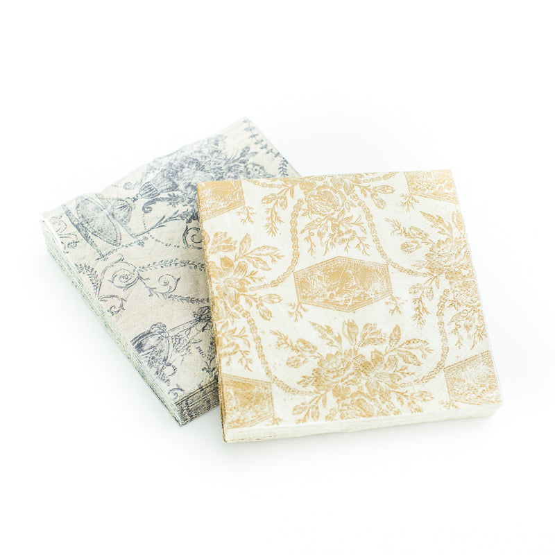 French Inspired Beverage Napkins