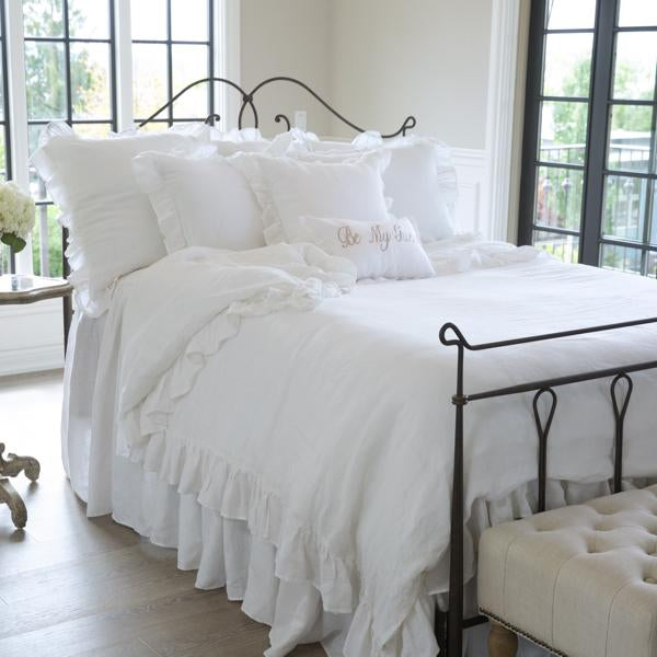 Luxury Linen Ruffled Duvet