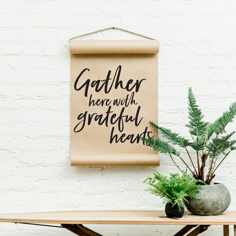 Grateful Hearts Scroll