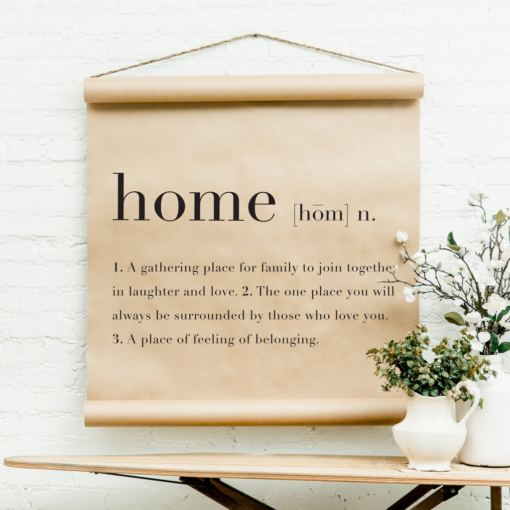 Home Definition Scroll