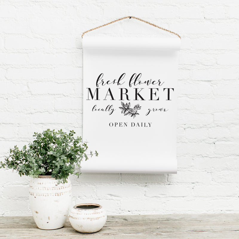 Flower Market Scroll