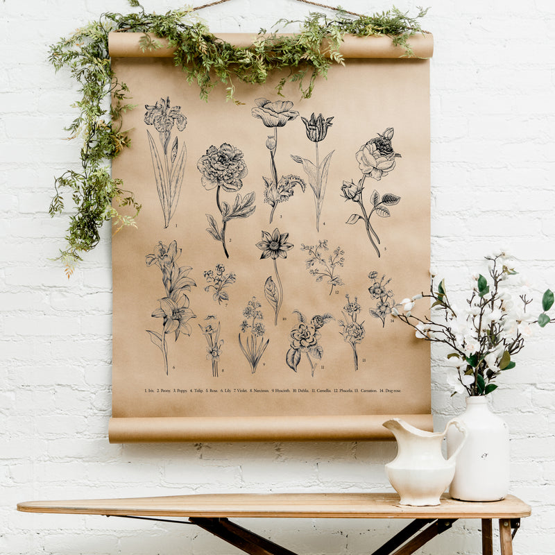 Botanical Floral Scroll