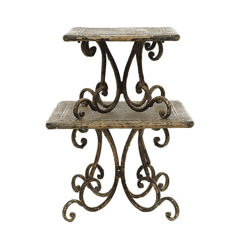 Distressed Cake Stand (Set of 2)