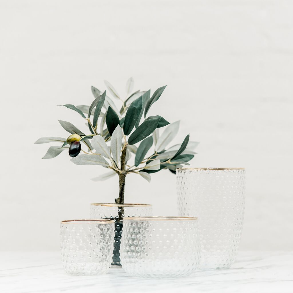 Gold Rimmed Bubble Vase