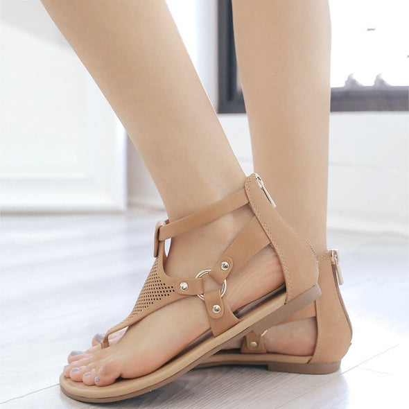 Women Fashion Retro Comfortable Hollow  Sandals Slippers