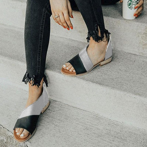 Women Fashion Low Square Heels Sandals