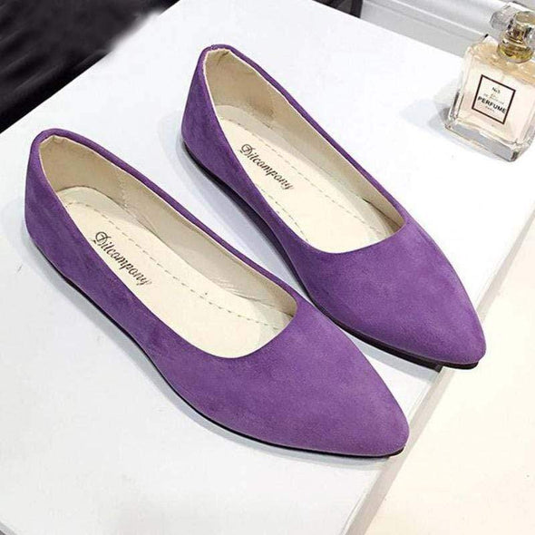 Women Casual Flat Shoes Peas Shoes Pointed Shoes Comfort