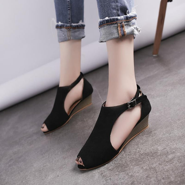 Women Fish Mouths Summer Large Size  Flat Sandals