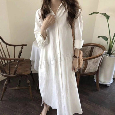 Women Plus size Long Sleeve Baggy Loose Maxi Dress
