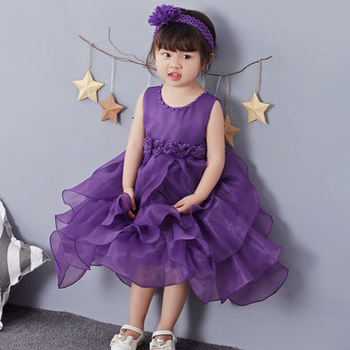 2019 Summer New Girls Princess Dress Wedding Flower Girl Dress Skirt Children's Dress Skirt In The Big Children's Dress Skirt y8
