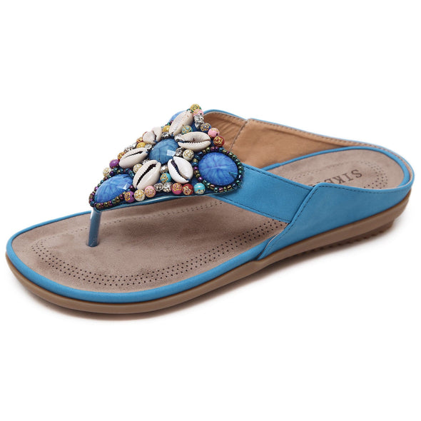 Women Elegant Bohemian Sweet Beaded Sandals
