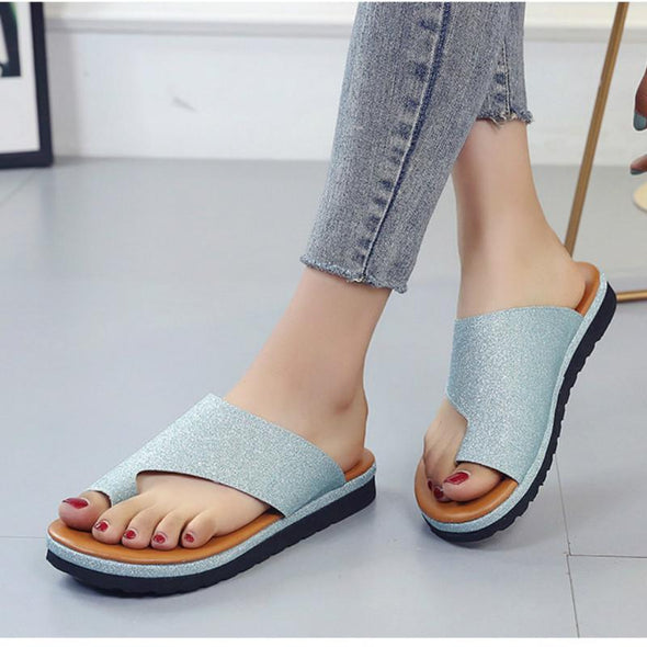 Women Bohemia Breathable Leather  Flat Sandals