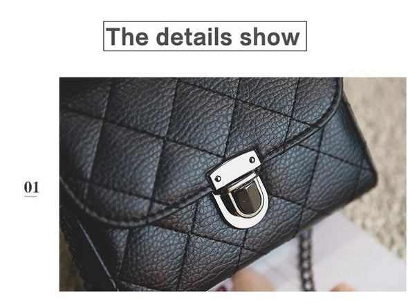JIAMEN New 2019 Chains Casual Women Leather Bags Classic Fashion  Shoulder Bags Party Purse Clutch Crossbody Messenger Bag